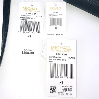 3PCS Michael Kors SM Kimberly Tote Wallet Charms