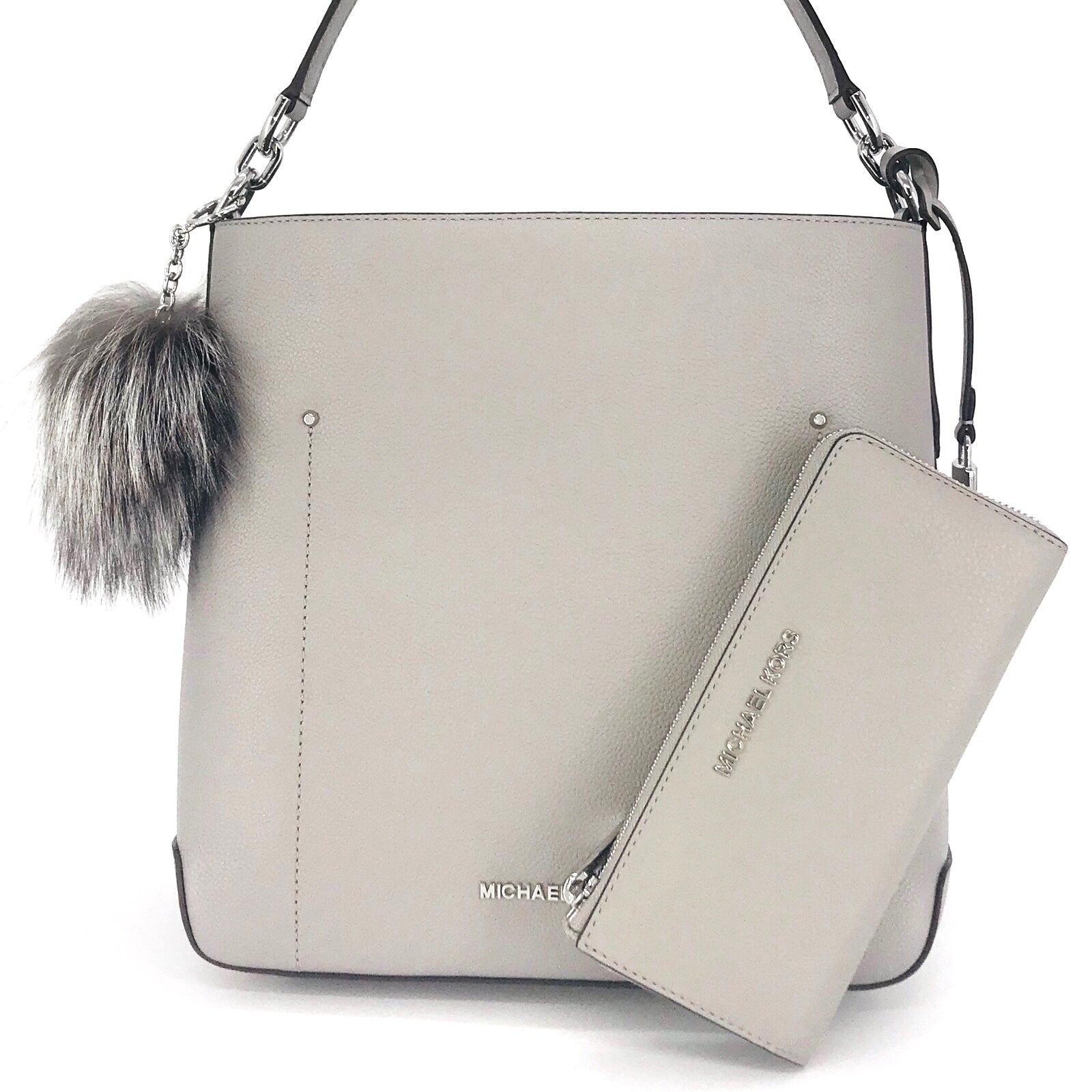 Michael Kors Hayes Bucket Shoulder Bag Wallet Set