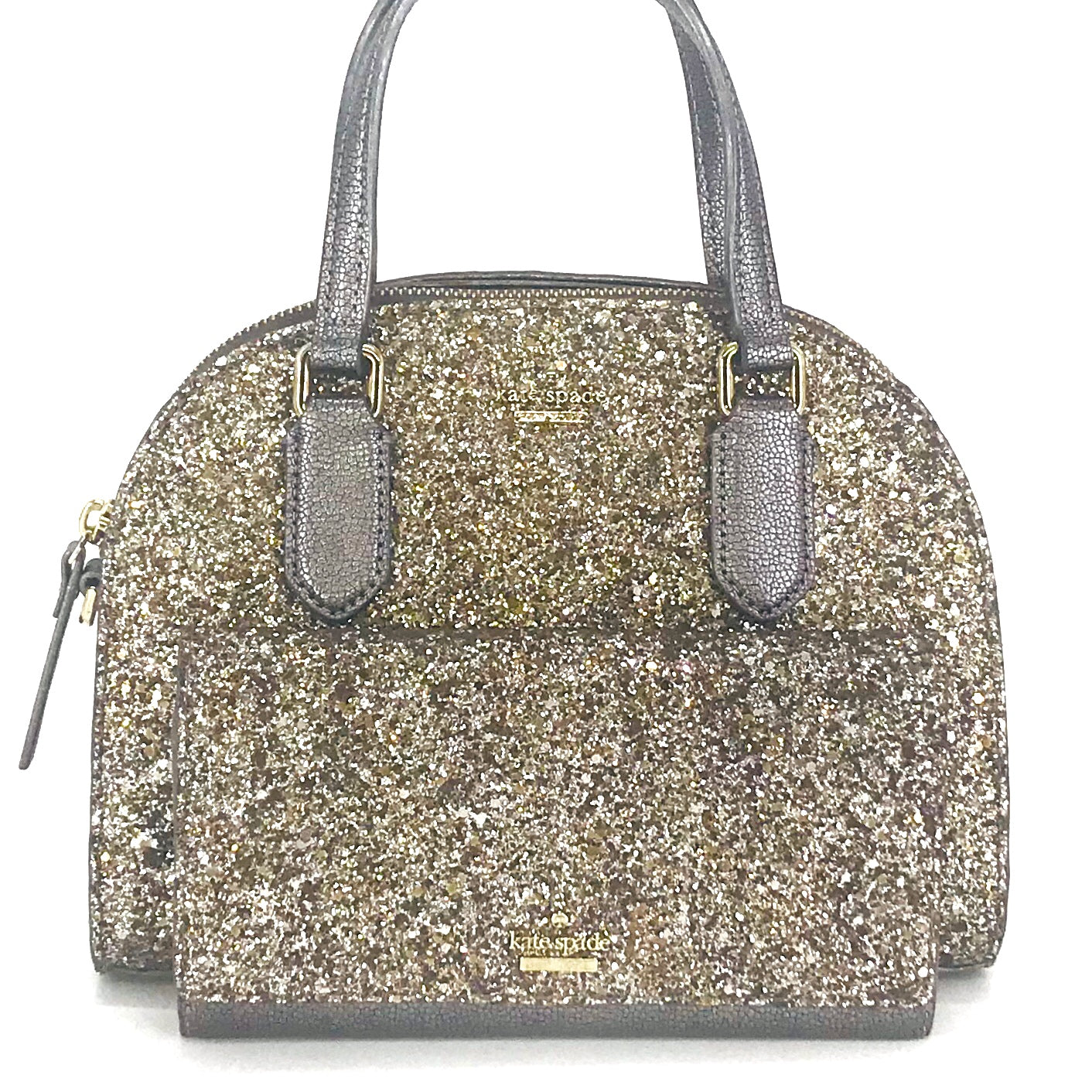 2PCS Kate Spade Mini Reiley Glitter Satchel Wallet Set