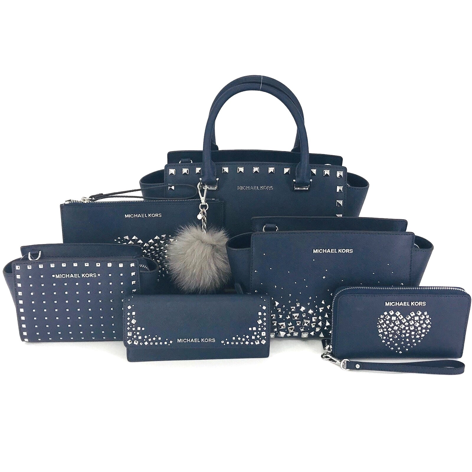 7PCS Michael Kors Navy Blue Love Studded Set