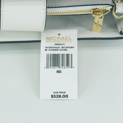 Michael Kors Kinsley MD Accordion Weaved Satchel