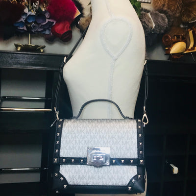 Michael Kors Tina Studded Small Trunk Bag