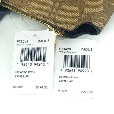 2PCS Coach Emma Satchel Wallet Set
