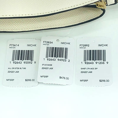3PCS Coach Stud Sage Carryall Wallet Belt Bag