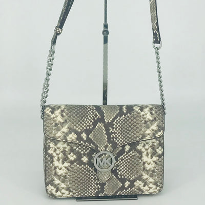 Michael Kors Vanna Medium Shoulder Flap Python Bag