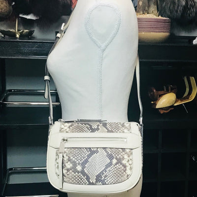 Michael Kors Julia Medium Python Messenger Bag