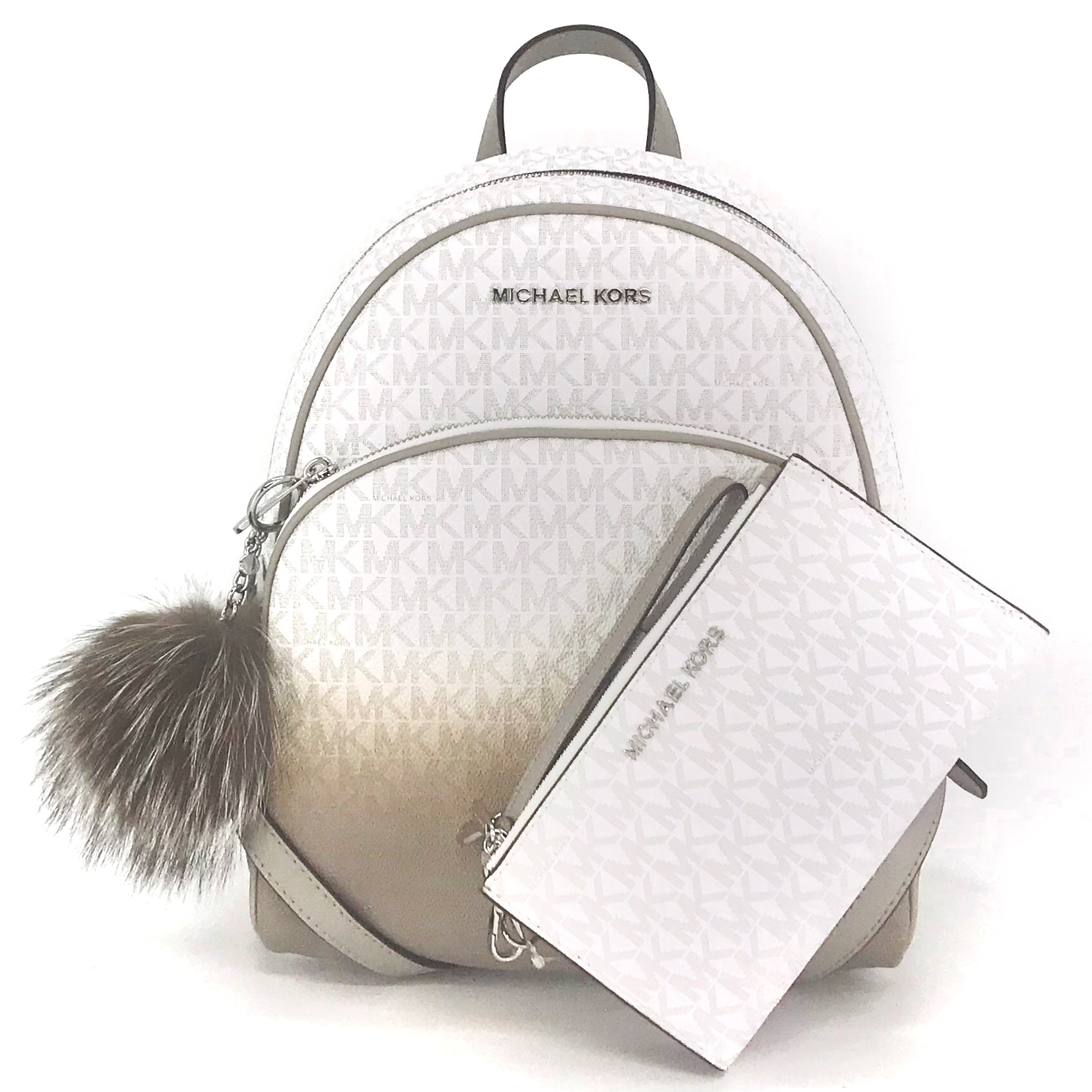 2PCS Michael Kors Abbey Backpack Wallet Set