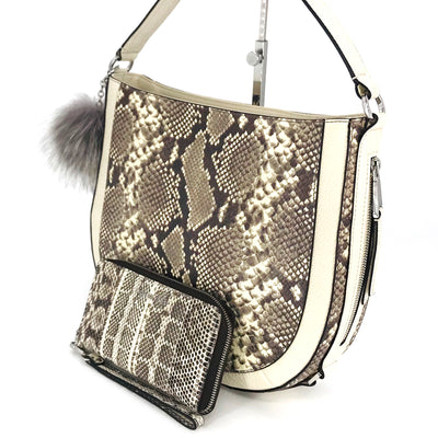 2PCS Michael Kors Python Convertible Shoulder Bag