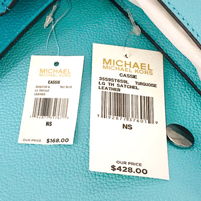 Michael Kors Cassie Large TH Satchel Wallet Set