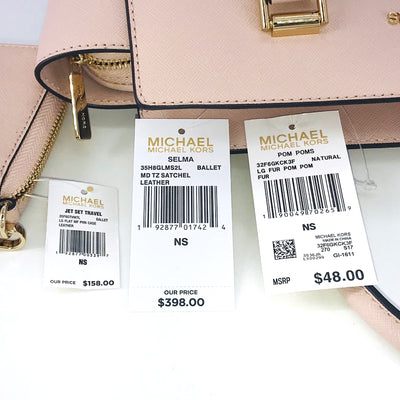 3PCS Michael Kors Selma Satchel Wallet Charms