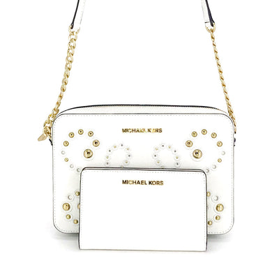 Michael Kors Jet Set Studded Crossbody Wallet Set