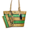 Brahmin | 3PCS Medium Asher Tote w/ Wallet & Charm