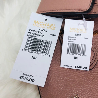 Michael Kors Adele Messenger Love Bagel Wallet Set
