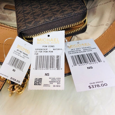 Michael Kors | 3PCS Jet Set Chain Tote w/ Wallet & Charm