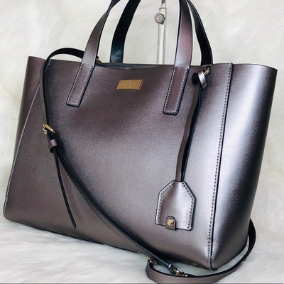 Small Nelle Leather Satchel