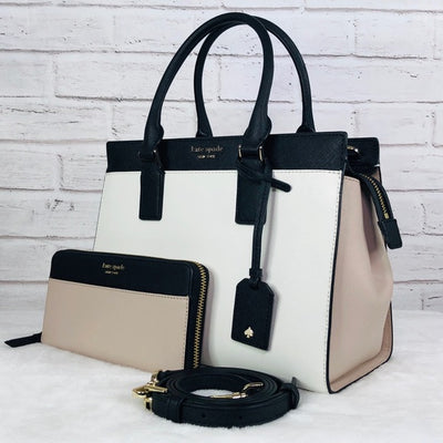 2PCS Kate Spade Medium Cameron Satchel Wallet Set