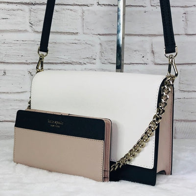 2PCS Kate Spade Cameron Crossbody Bag Wallet Set