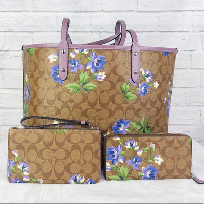 4PCS Coach City Lily Tote Wallet Wristlet Pouch