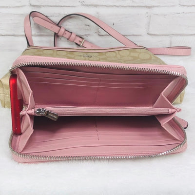 2PCS Coach Zip File Crossbody Wallet Set