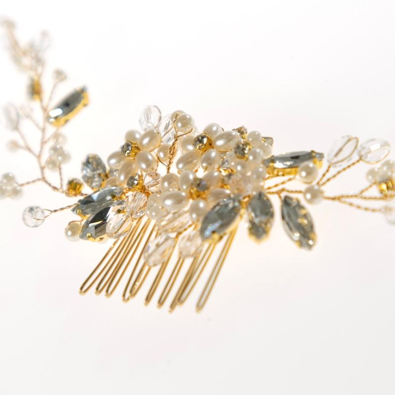 Frosted Garden Hair Comb-Gildie
