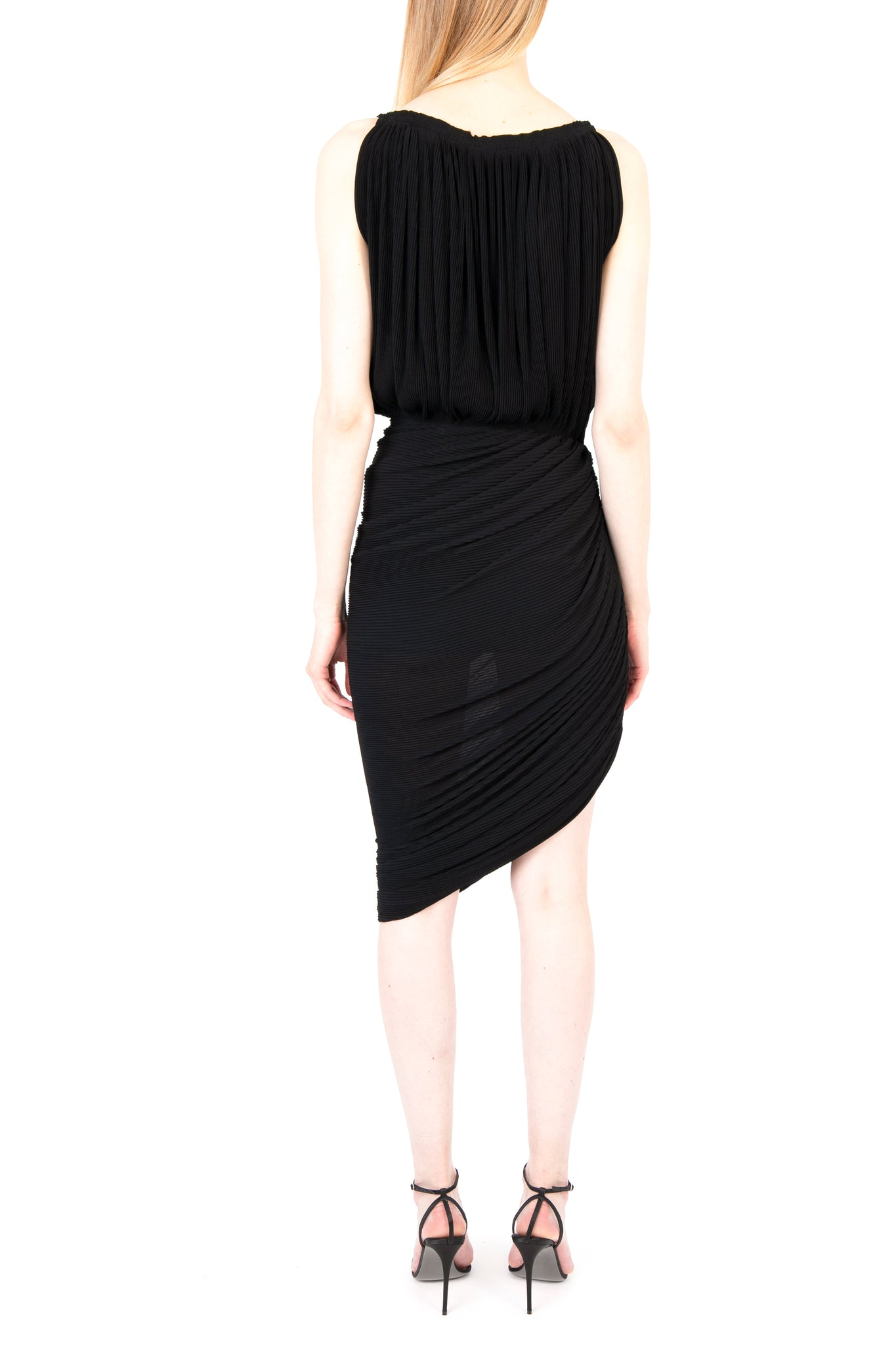 Gathered Pleated Jersey Dress