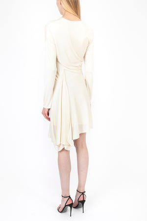 Silk Jersey Twist Dress