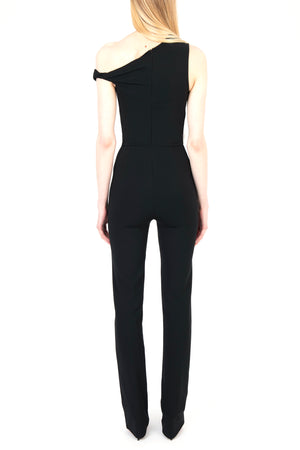 One Shoulder Twist Milano Jumpsuit