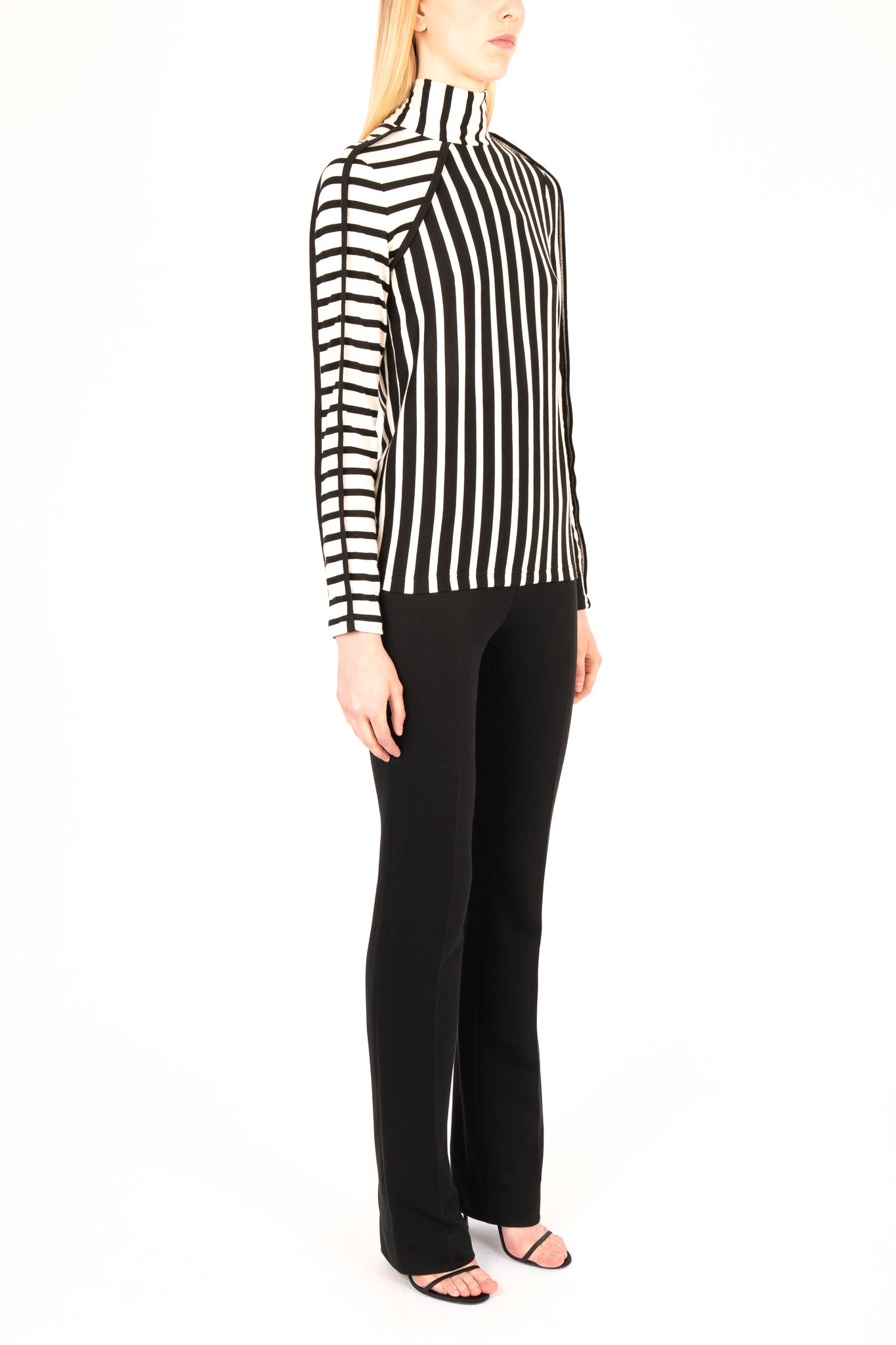 Stripe Mix Long Sleeve Top