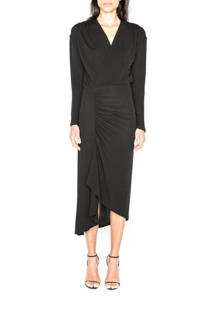 Long Sleeved Ruched Dress