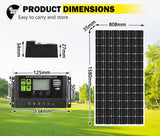 ATEM POWER 250W 12V Solar Panel Kit Mono Fixed Camping Caravan Boat Power Battery - SA LED Lighting & Accessories