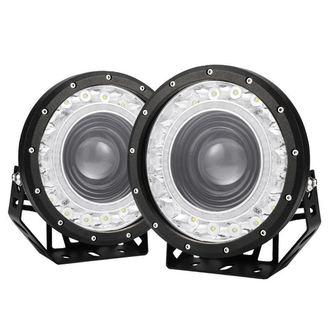 9inch LED Driving Lights Round SpotLights DRL 4x4 Offroad - SA LED Lighting & Accessories