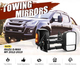 Pair Towing Extendable Side Mirrors for Isuzu D-MAX MY 2012-2019 - SA LED Lighting & Accessories