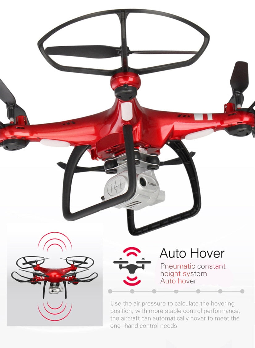 Drone Quadcopter Ile 1080 P Wifi FPV Kamera RC Helikopter Profesyonel Dron