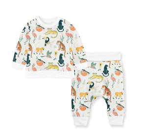 LOUNGE SET OF FLEECE/COTTON PANTS ANIMAL WORLD