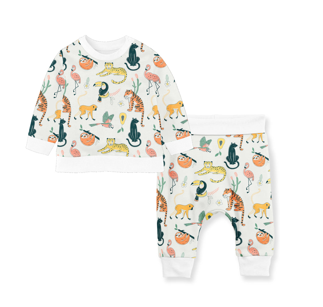 SET OF FLEECE/COTTON PANTS ANIMAL WORLD