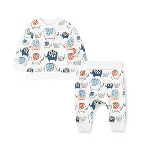 SET OF ELLIE FLEECETOP/COTTON PANTS