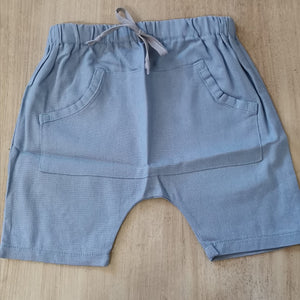 HAAREM SHORTS WITH POCKET - LIGHT BLUE