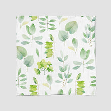 Load image into Gallery viewer, SWADDLE BLANKET -  WATERCOLOUR LEAF AW19