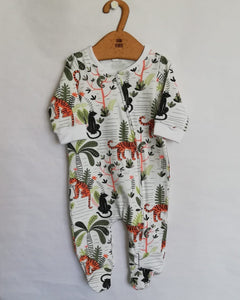 FOOTY ROMPER WITH ZIP  - JUNGLE FEVER AW20