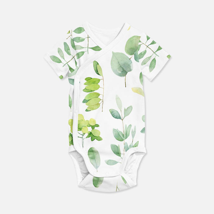 WRAP ONESIE  - WATER COLOUR LEAF  AW19