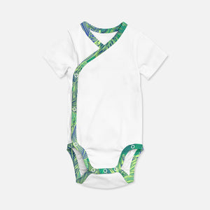WRAP ONESIE TROPICAL GREEN