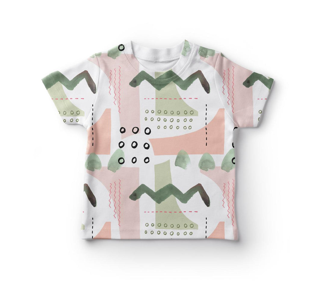 TEE SHIRT UNISEX -   ABSTRAT GREEN SPLODGE SS19/20