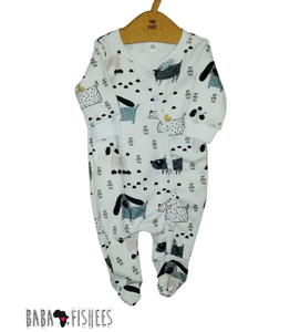 ZIPPY ROMPER  - DOGS WORLD  FOOTY AW20