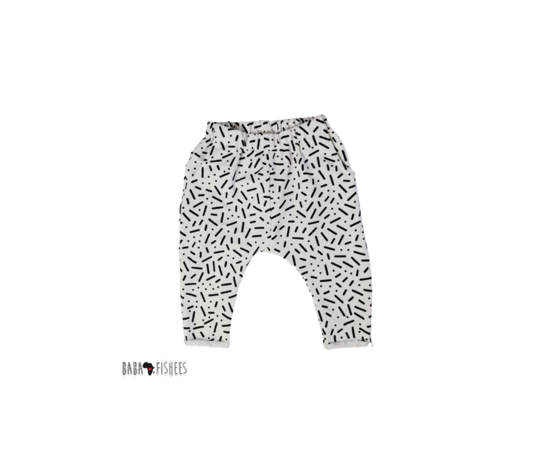 LOUNGE PANTS - WHITE DOODLES AW21