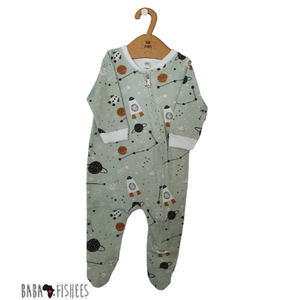 FOOTY ROMPER WITH ZIP  - SPACE ADVENTURE AW20