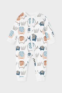 ZIPPY ROMPER - ELLIE THE ELEPHANT CUFF