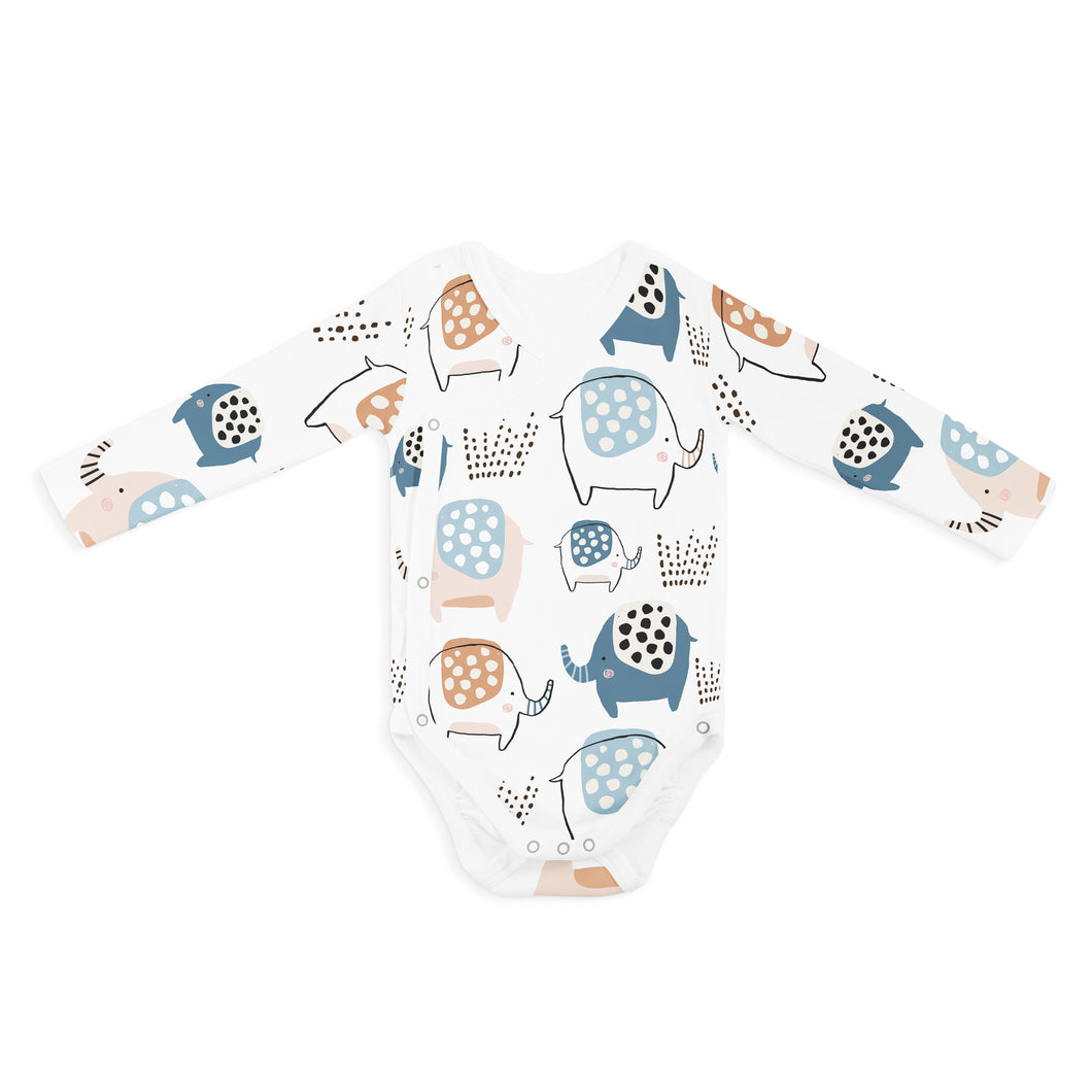 WRAP ONESIE - LONG SLEEVE ELLIE ELEPHANT