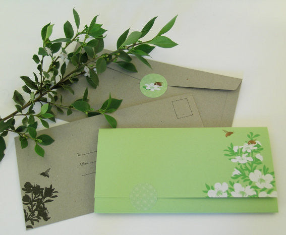 Stationery Set - Bees & Waxflower