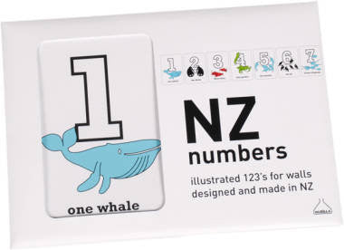 New Zealand Numbers Wall Frieze