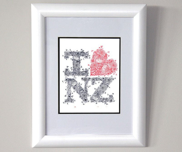 I LOVE NZ Fine Art Print